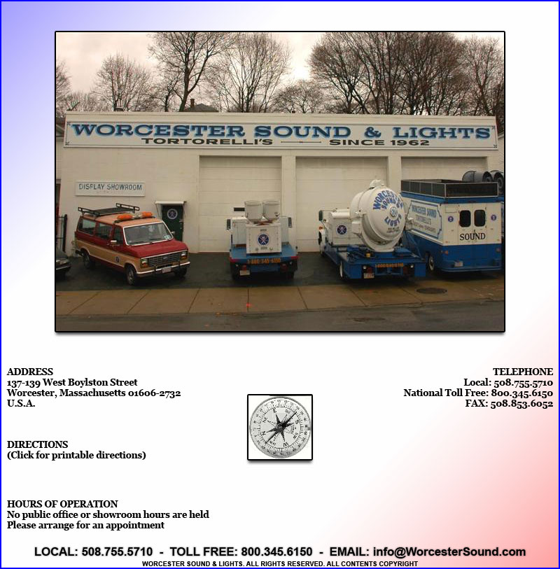 Worcester Sound Lights Contact